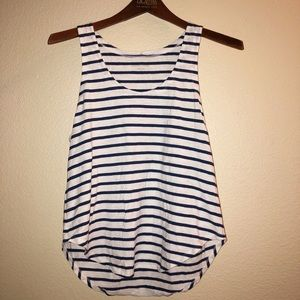Eileen Fisher striped organic cotton tank small